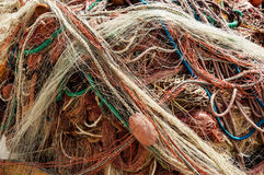 Colored fishing net Royalty Free Stock Photography