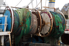 Colored fishing nets Royalty Free Stock Photography