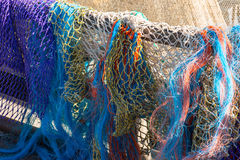 Colored fishing nets Stock Photography