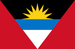 Colored flag of Antigua and Barbuda Royalty Free Stock Photography