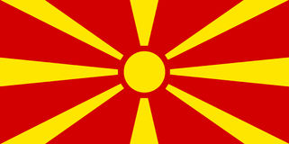 Colored flag of Macedonia. Detailed and accurate illustration of colored flag of Macedonia Royalty Free Stock Photo