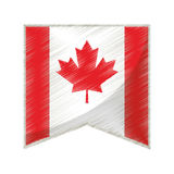Colored flag pennant canadian Stock Images
