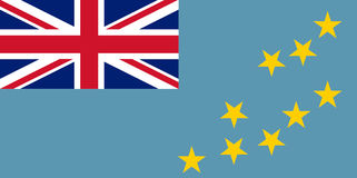 Colored flag of Tuvalu Royalty Free Stock Photo