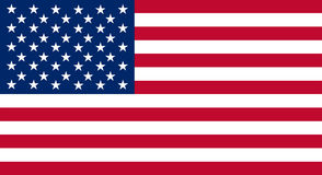 Colored flag of the USA. Detailed and accurate illustration of colored flag of the USA Stock Photo