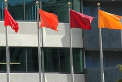 Colored Flags. Taken in China Town,San Francisco,Ca Stock Images
