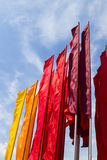 Colored flags Royalty Free Stock Image