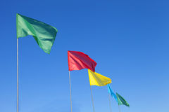 Colored flags Royalty Free Stock Photography