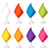 Colored flags templates. Set of promotional gifts and souvenirs.  Royalty Free Stock Photos