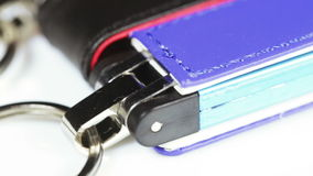 Colored flash drives stock footage