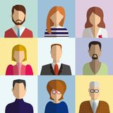 Colored flat characters Royalty Free Stock Photo