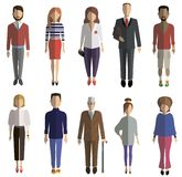 Colored flat characters Stock Photo