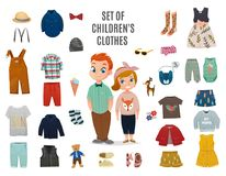 Children Fashion Big Icon Set Royalty Free Stock Images