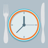 Colored flat design vector illustration concept for dieting Stock Photos