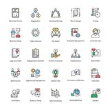 Business Management Flat Icons Set. A colored flat icons set of business management with all related icons. A wide range including financial aspects, market Royalty Free Stock Image