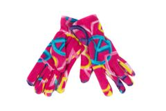 Colored fleece gloves. Isolate on white. Background Stock Images