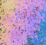 Colored fleur de lis pattern Stock Images