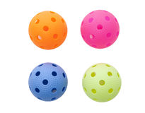 Colored floorballs Stock Photography