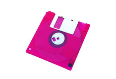 Colored floppy disk. Isolated on white royalty free stock images