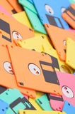 Colored floppy disk background Stock Photography