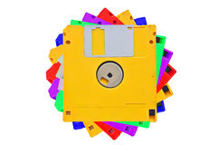 Colored floppy disks Stock Images