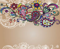 Colored floral background Stock Image