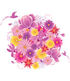 Colored floral background Stock Photo