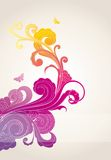Colored floral background Royalty Free Stock Photo