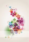 Colored floral background Royalty Free Stock Photos