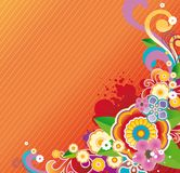 Colored floral background Royalty Free Stock Photography