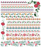 Colored floral borders Stock Photo