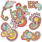 Colored floral element Royalty Free Stock Photo