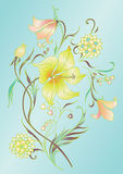 Colored floral elements Stock Images