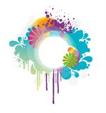 Colored floral frame Stock Image