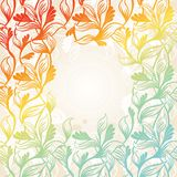 Colored floral frame. Vector illustration Royalty Free Stock Photo