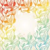 Colored floral frame. Vector illustration royalty free illustration