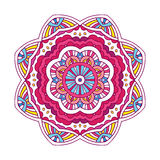 Colored floral mandala Stock Photos