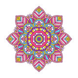 Colored floral mandala Royalty Free Stock Photography