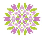 Colored floral ornament. Isolated Royalty Free Stock Photos
