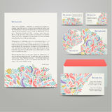 Colored floral pattern Royalty Free Stock Photo