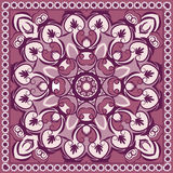 Colored floral pattern. Vector pink floral ornamental pattern Stock Image