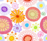 Colored floral seamless background Stock Photography
