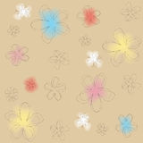 Colored floral texture Royalty Free Stock Images