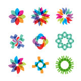 Colored Flower Icons Royalty Free Stock Images