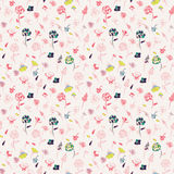 Colored flower pattern Stock Photography