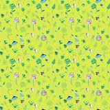Colored flower pattern Royalty Free Stock Image