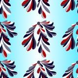 Colored flower petals on a light background backlit seamless vector pattern. (vector eps 10 stock illustration