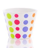 Colored flower pot. Isolated over white background Stock Photography