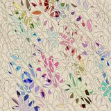Colored flower shapes pattern Royalty Free Stock Photo