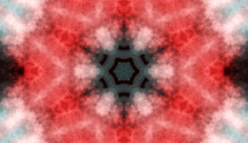 Colored Flowered Kaleidoscope Red Abstract Background Royalty Free Stock Photography