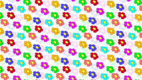 Colored flowers background. With a lot of colors,  purple, pink, green, blue and more Stock Images